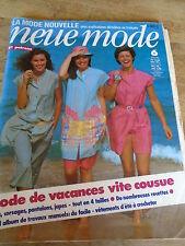 """MAGAZINE PATRONS VINTAGE """"NEUE MODE MODE VACANCES VITE COUSUE  ETC 1981"""