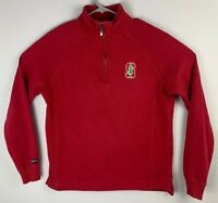 Jansport Stanford Red Pullover Quarter Zip Long Sleeve Womens L Large