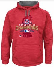NWT Medium Chicago Cubs Majestic 2016 World Series  Streak Fleece Red - Champs!