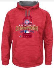 NWT Medium Chicago Cubs Majestic 2016 World Series  Streak Fleece Red - Champs