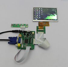 HDMI+VGA+2AV+Rear View Monitors+5inch 480*272 AT050TN33 TFT LCD Display