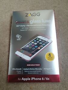 Zagg Invisible Shield Glass Luxe iPhone 6/6s - Rose Gold