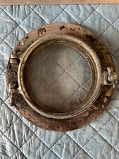 Antique Porthole maritime porthole 6� Glass Brass Plated Patina