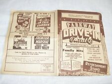 Vintage 1949 1940s Parkway NY Drive-In Movie Theater Ad Flyer Mrs. Mike