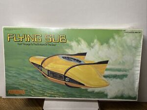 Vintage 1975 Flying Sub Model Kit from Voyage To The Bottom Of The Sea. NIB!