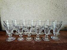 BACCARAT ST LOUIS CATON 13 verres à vin - 19ème