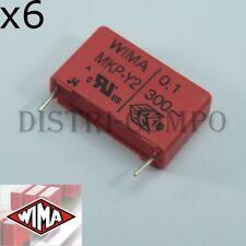 Condensateur 100nF MKP-Y2 300V~ RM22.5 10% Wima (lot de 6)