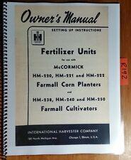 IH Fertilizer Unit McCormick HM-220 HM-221 HM-222 HM-238 HM-240 HM-250 Manual