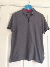 Men's TED BAKER  Size Small, Blue Polo T-shirt Top  Button down collar