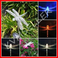 4-Pieces Solar Powered Dragonfly Garden Yard Stake Pathway Lawn Light Led Sun i
