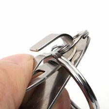 1Stk Edelstahl Schlüsselring Gürtelclip Halter Hoop Schleife Ring-Ringe Hot