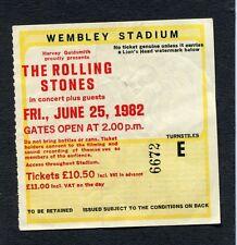 1982 Rolling Stones J Geils Black Uhuru concert ticket Wembley London Tattoo You