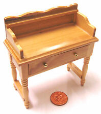 1:12 Scale Pine Wooden Wash Stand Dolls House Bedroom Table Accessory 1152