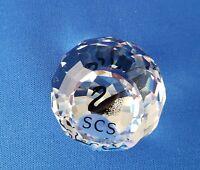 Swarovski Decorative Crystal Figurine Paper Weight Swan SCS