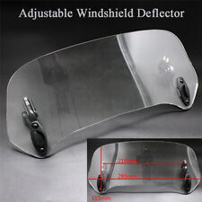 Adjustable Motorcycle Windshield Spoiler Air Deflector Wind Protector Clear Lens