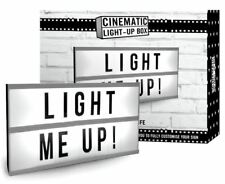 LED CINEMATIC MESSAGE BOARD LIGHT UP BOX WALL SHOP WEDDING SIGN LP40859