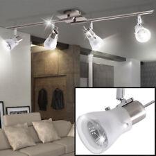Spot Leiste Ess Zimmer Küchen Leuchte Decken Strahler Lampe beweglich silber