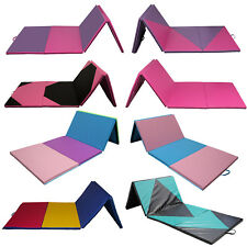 "4'x10'x2"" Gymnastics Mat Thick Folding Panel Gym Fitness Exercise Yoga Mat"