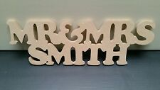personalised mr & mrs surname/ top table decoration /sign/ bespoke/wedding gift