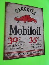 tin metal home garage repair shop man cave decor service station fuel mobiloil