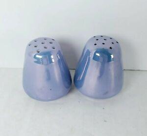 Vintage Shofu Blue Lustreware Salt And Pepper Shakers Chinaware Japan