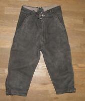 >>> Kinder- Trachtenhose / Kniebund- LEDERHOSE / Hose grau- grün ca. Gr. 110