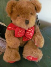 Harrods Christmas Bear 1997, Plush Hand Puppet, Original Tag