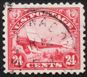 U.S. Used #C6 24c Air Mail, Superb. Large Margins. Lovely CDS Cancel. A Gem!