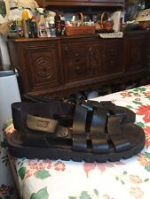 GH Bass and Co. Men's Brown Leather Gladiator Fisherman Sandals Shoes Size 5.5
