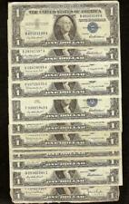 14 PC LOT 1935 1957 $1 DOLLAR SILVER CERTIFICATES BLUE SEAL NOTES PAPER MONEY