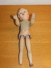 ancien vintage 40cm POUPEE old DOLL alt puppe bébé FRANCE bois & plastique WOOD