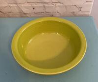 """Fiestaware Serving Bowl Chartreuse Lime Green Fiesta 8 1/4"""" Diameter 3"""" Tall"""