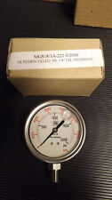 "Nuova Fima Glycerin Filled Pressure Guage 0-2000 PSI 1/4""  NEW Stainless Steel"