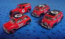 2x Fiat 600 Multipla 1960, Fiat 1100E /Ford Eifel 1950 Ramazzotti Brumm 1:43