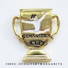 NEW! Gymnastics Gold Cup Pin - #1555
