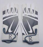 Nike Huarache Edge Batting Gloves Men's Large Baseball White/Cool Grey