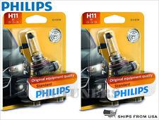 2x (PAIR) NEW! PHILIPS STANDARD H11 HEADLIGHT BULBS 55W DOT 12362B1 | PACK OF 2