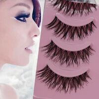 5 Pairs Makeup Handmade Natural Eye Lashes Extension Thick False Eyelashes