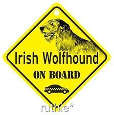 Irish Wolfhound On Board Dog Window Sign Made in USA