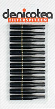2 x denicotea Zigarettenspitze Standard schwarz / Ring goldin / Filter kurz