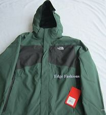 Mens The North Face Tiberius Triclimate 3 in 1 Jacket Green/ Grey XL - Last One!