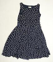 Merlena Womens Blue Polka Dot  Skater Dress  Size 14