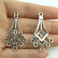 20411 70pcs Alloy Spring Shape Antique Silver Crafts Findings Long Connector