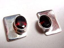 Red Garnet Oval Stud Earrings 25 Sterling Silver New Corona Sun Jewelry