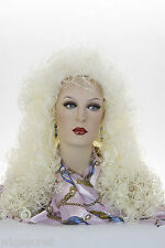 White Blonde Blonde Long Curly Wigs