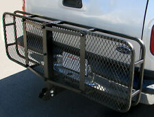 "60"" Folding Truck Car Cargo Carrier Basket Luggage Rack Hitch Hauler 2"" Receiver"