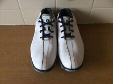 Footjoy Junior Golf Shoes 45023 VGC Uk Size 6 M White/ Blue