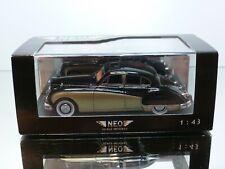 NEO SCALE MODELS 43144 JAGUAR MK VIII - BLACK + GOLD 1:43 - EXCELLENT IN BOX