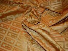 6Y new Designer fabric woven geometric design yellow gold tones