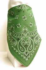 forest green lined bandana scarf Fierce Face Protection mask